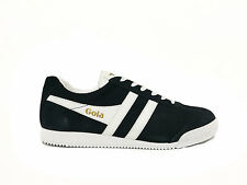 Scarpe Gola Harrier Suede CMA192BP Uomo Sneakers Black White Casual Moda
