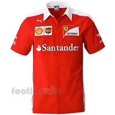 Puma Scuderia Ferrari Vettel Kimi Button Polo T-shirt 761946 01 uomo Red Limited