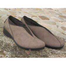 Scarpe Enval soft donna 49204 mocassino slip on Made in Italy Suede Tortora IT