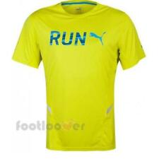 Puma Run S/S Tee 513060 03 uomo Yellow Fluo moda Polielastene Fashion T-shirt IT