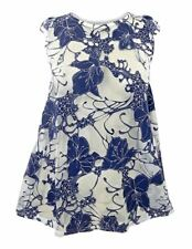 Dorothy Perkins Blue Ivory Floral Lace Top Ladies NEW