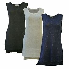 INNOCENCE Womens Sequin Knit Long Party Top