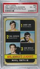 1972-73 Topps #62 Phil Esposito Jean Ratelle Bobby Orr PSA 6 EX-MT Boston Bruins