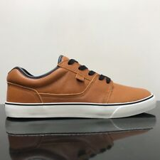 DC SHOES TONIK LX BROWN LEATHER TRAINERS SHOES