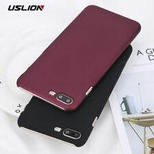 Phone Case For iPhone 6 6s Plus Simple Wine Red Color Matte Cases back Cover