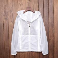 Outdoor Raincoat Sun Protection Clothing Men Women Thin Breathable Long-sleeved