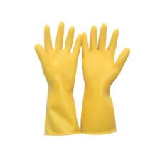 1 PAIR WATERPROOF HOUSEHOLD DISH WASHING KITCHEN RUBBER CLEANING GLOVES CHEERFUL