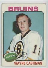 1975-76 Topps #63 Wayne Cashman Boston Bruins Hockey Card
