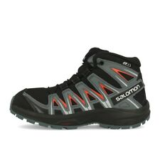 Salomon XA Pro 3D Mid CSWP J Black Stormy Weather Cherry Tomato Kinder Schuhe