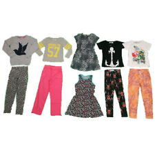 NEW Girls Bundle Age 6 7 8 9 10 x Cotton Trousers Tops Dress BNWT Summer Holiday