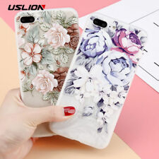 3D Relief Flower Phone Case For iPhone 6 6s Plus Rose Floral Cases Back Cover
