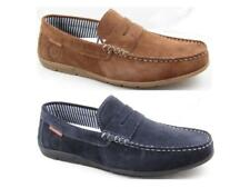 Mens Cafe Moda Leather Suede Casual Driving Deck Boat Shoes Slip On Loafers