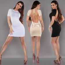 KouCla Bodycon Dress Open Back With Bow Cocktail Party