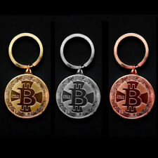 Bitcoin Gold Keyring - Gold Plated 1 BTC - Bitcoin Keychain - UK Stock & Seller