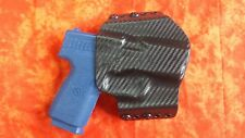 LOOK!!! SUPER NICE BLACK CARBON KYDEX HOLSTER TRULY HAND MADE AND HAND FITTED