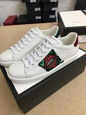 GUCCI ACE LIP EMBROIDERED TRAINERS ALL SIZES BNIB