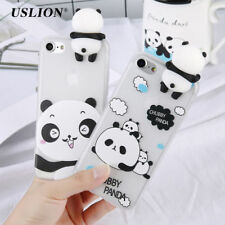 3D Cartoon Panda Case For iPhone 7 Plus Cute Animal Pattern Phone Cases Shell