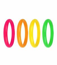 Ladies 15cm Neon Bangles 4 Assorted Color Womens Fancy Party Supplies Accessory