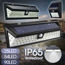 20/54/90 Solar Power PIR Motion Sensor LED Light Wall Lamp Outdoor Garden Safety