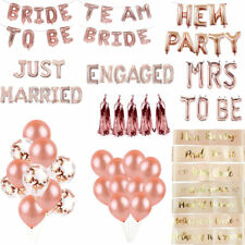 Rose Gold Bride Mrs To Be Hen Party Engaged Foil Latex Balloons Banner Sashes