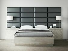 Upholstered Padded Wall Panels Headboard Leather Full Twin King Bed Fabric Soft