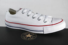 Converse All Star Chaussures à Lacets Baskets Blanc, Textile/Lin, M7652c Neuf
