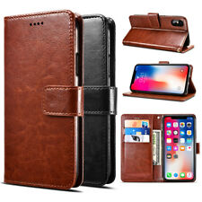 Vintage Flip PU Leather Case Card Wallet Cover Stand For Xiaomi Redmi Phones