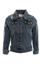 Womens Distressed Denim Jacket Dark Wash Ladies Denim Jacket Coat 8 10 12 14 16