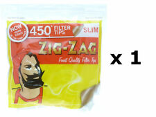 ZIG ZAG 450 ULTRA SLIM FILTER TIPS 5mm SMOKING CIGARETTE ROLL RESEALABLE BAG