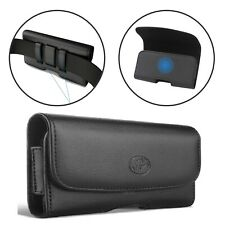 NEM XL CELL PHONE BELT CLIP LEATHER HOLDER HOLSTER CASE POUCH WITH CARD SLOT