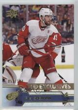 2016-17 Upper Deck Exclusives #316 Riley Sheahan Detroit Red Wings Hockey Card