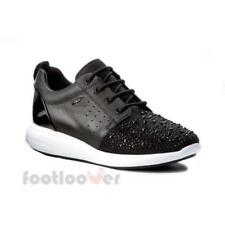 Scarpe Geox Ophira D621CA 08515 C9999 Sneakers Donna Black Pelle Strass Fashion