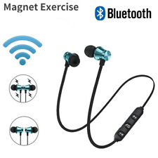 Headphone Bluetooth Stereo Earphone Headset Wireless Magnetic In-Ear Earbuds
