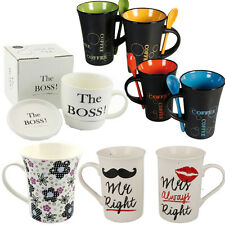 COFFEE MUG TEA SET DRINK CUPS MUGS CUP KITCHEN FINE CHINA CERAMIC GIFT SET NEW