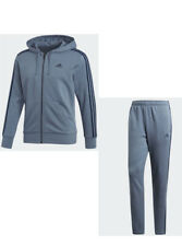 Adidas Essential 3 Stripes Mens Full Tracksuit Top Bottom Pants Training