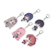 Japanese Anime Darling In The FranXX Acrylic Key Keychain Keyring Cosplay Gifts