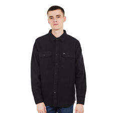 Brixton - Bowery L/S Flannel Shirt Washed Black Hemd Langarm