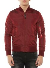 Nuovo Alpha Industries Giacca Uomo ma 1 Tt 191103 Bomber Rosso Scuro