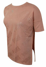 Puma En Pointe Womens Wide Crew Neck Active Pink T-Shirt Top 575090 31 RW45