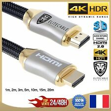 Cable HDMI 2.0 4K 60Hz Profesional Ultra HD 2160p 3D Full hd ARCO HDR 18GB/S