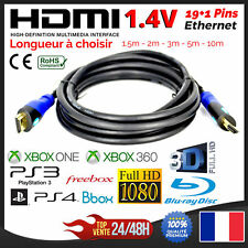 Cable HDMI Ethernet PS3 PS4 XBox HD TV 3D 4K 1080P 1,5m 2m 3m 5 m 10m 15m 20m