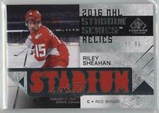 2016 Upper Deck SP Game Used #SSB-RS Col vs Det Riley Sheahan Detroit Red Wings