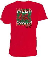 Welsh Dragon T shirt, Welsh and Proud of it!, Rugby Six nations