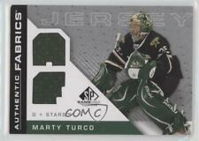 2007 SP Game Used Edition Authentic Fabrics #AF-MT Marty Turco Dallas Stars Card