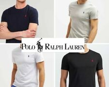 Mens Ralph Lauren Short Sleeve Crew Neck Polo T-shirt 100% Cotton (Custom Fit)