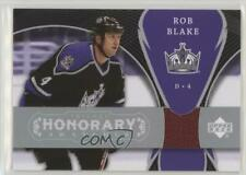 2007 Upper Deck Trilogy Honorary Swatches HS-BL Rob Blake Los Angeles Kings Card