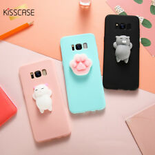 Silicon Black Pink Covers Mate Cat Cases For Samsung S6 S7 Edge S8 Note 8 Pouch