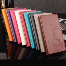 cover book flip leather synthetic cover design tower eiffel for Huawei Nova