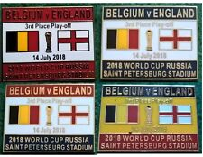 Belgium v England 2018 World Cup 3rd Place Play Off St Petersburg 14 July Badge