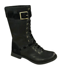 Timberland Savin Hill Calf Womens Boots Lace Up Leather Buckle Black 8543R U68